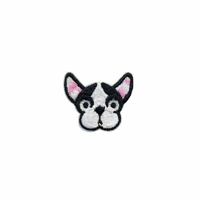 French Bulldog Puppy dog (Iron on) Embroidery Applique Patch Sew Iron Badge