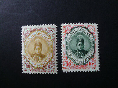Persia/Perse/Middle East,1911 Ahmad Shah 20+30 Krans Mint + Never Hinged