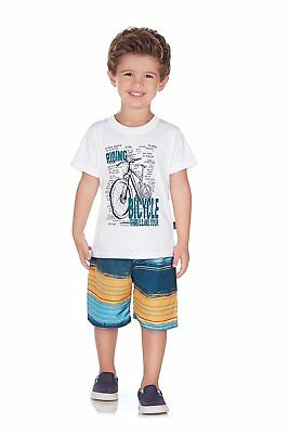 2c07092bbba3 PULLA BULLA TODDLER Boy Outfit Graphic Shirt and Shorts Set Size 4T ...