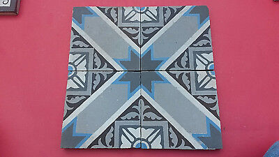 LOT 4 CARREAUX ANCIENS B & W CIMENTS  14,7 cm