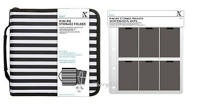 Xcut Mini Die Storage Folder 60 Pockets with Magnetic Sheets / Refill Wallets