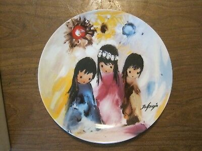 Ted DeGrazia - Bright Flowers Of The Desert - Collector's Ltd. plate (019-1)