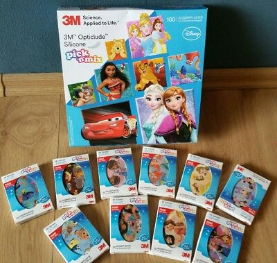 Augenpflaster 3M Opticlude Disney 89 Stk. pick ´n´mix Silicone Größe Maxi ab 6 J