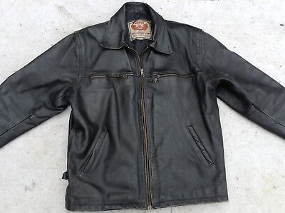 Akaso Vintage Leather Cruiser Style Motorcycle Jacket Size Xl