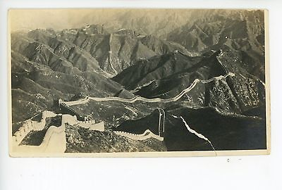 Great Wall of China RPPC-Size Antique Real Photo 萬里長城 (Tear) 1910s