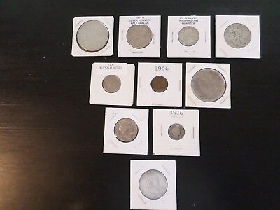 10 Coin Lot Of Nice Old Coins For Any Collection, No Culls Or Junk. Listed Below