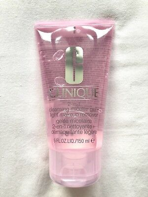 Clinique 2-in-1 Cleansing Micellar Gel + Light Makeup Remover Full Size 150ml