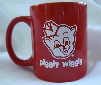 PIGGLY WIGGLY Grocery Food Store MUG / Coffee Cup - New, Red