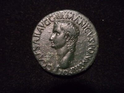 Ancient Roman Empire ( Gaius 'Caligula' )  Bronze AE As coin AD 37 - 41 VF