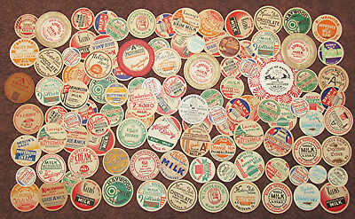 Lot of 108 Old Vintage Milk Dairy Bottle Caps