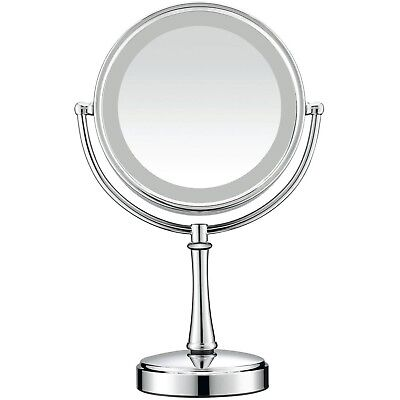 Reflections Touch Control Double-Sided Lighted 1x/8x Mirror Satin Nickel - B50