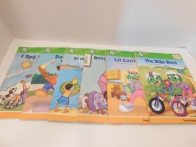 Lot of 12 Leap Frog Tag Reader Books short vowels long vowels