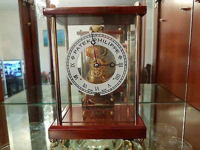 Patek Philippe Dealers Showroom Display Golden Skeleton Clock