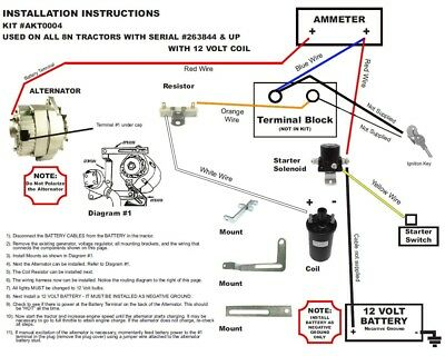 8N Ford Alternator Fits Generator Conversion Kit Side n ford tractor generator to alternator wiring schematic diagrams
