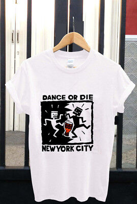 Vintage~ KEITH HARING 1990 Dance or Die NYC New York City T-Shirt USA Size S-3XL