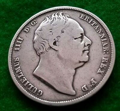 A LOVELY COLLECTABLE.....WILLIAM IV....1836....SILVER....HALF CROWN......stevio*