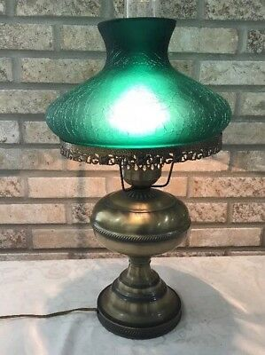 GONE WITH THE WIND VINTAGE RAYO ELECTRIC OIL BURNER HURRICANE LAMP w/COOL SHADE