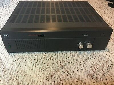 NAD 2600A Power Amplifier Monitor Series - Stereo 150W/CH - Works Perfectly