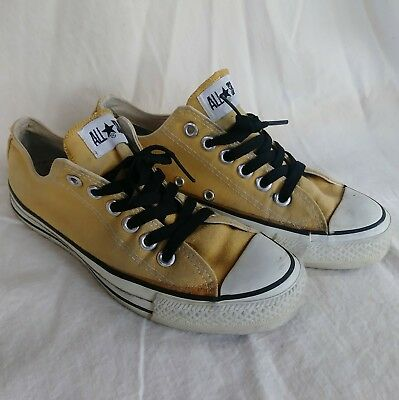 Vintage USA-MADE Converse All Star Chuck Taylor shoes size 5.5, a great YELLOW
