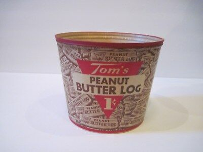 Antique Tom's Peanut Butter Log Candy Cardboard Advertising Container