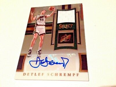 Detlef Schrempf 2018 Panini Select Silver Game Worn Jersey Autograph #/149 Sonic