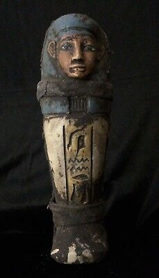 RARE EGYPTIAN ANTIQUE USHABTI Statue Shabti Stone EGYPT Goods C.1932–1759 BC