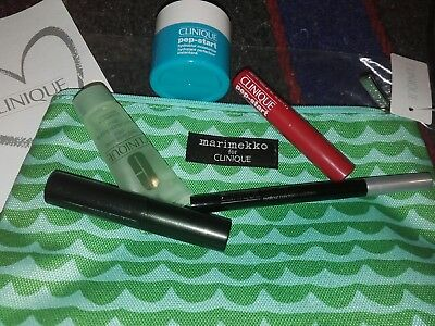CLINIQUE MARIMEKKO 6pz EYELINER-MASCARA-BALM-PEP START