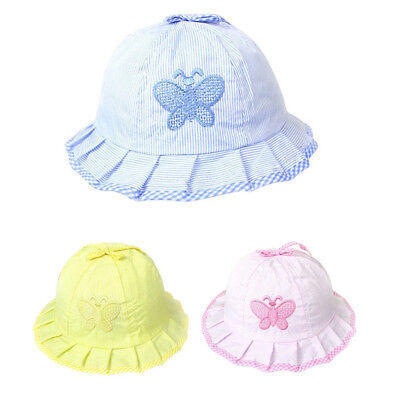 Baby Summer  Style Infant Sun Hats Cotton Baby Hats Baby Butterfly Hats Caps