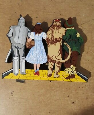 Shelia's Wizard of Oz characters hand painted Wood  Rare TO OZ 001