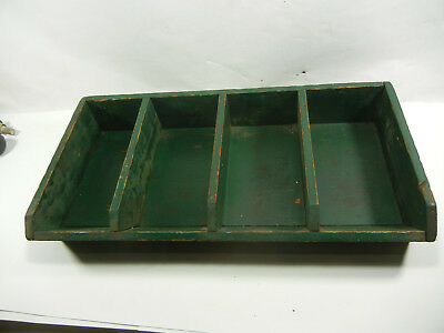 Antique Primitive Wooden Divided Tray Drawer Shadow Cash drawer G076
