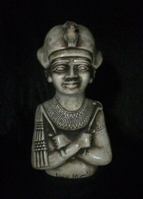 ANCIENT EGYPT EGYPTIAN ANTIQUE God OSIRIS Pharaonic STATUE Carved STONE 2Kg-BC