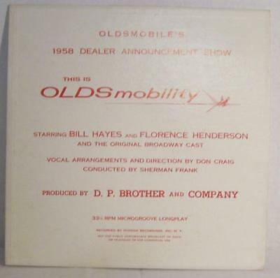 THIS IS OLDSmobility 1958 OLDMOBILE Dealer Show Bill Hayes Florence Henderson VG