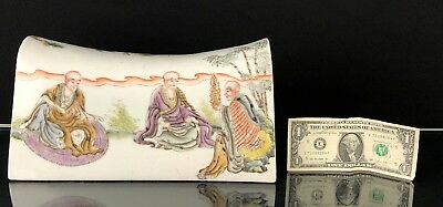 Marvelous Antique Chinese Republic Porcelain Pillow With Immortals NO RESERVE!!