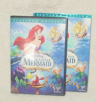 The Little Mermaid (DVD, 2006, 2-Disc Set, Platinum Edition) (GENTLY USED)