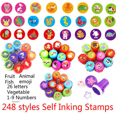 Self Inking Stamp Seal Toy Rubber School Office Party Favors Children's day Gift