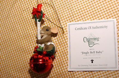 """Charming Tails """"JINGLE BELL BABY"""" by Fitz and Floyd, Inc (Christmas ornament)"""