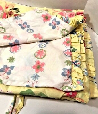 Pottery Barn Kids Butterfly Floral Crib Toddler Duvet Cover Yellow Sophie Baby