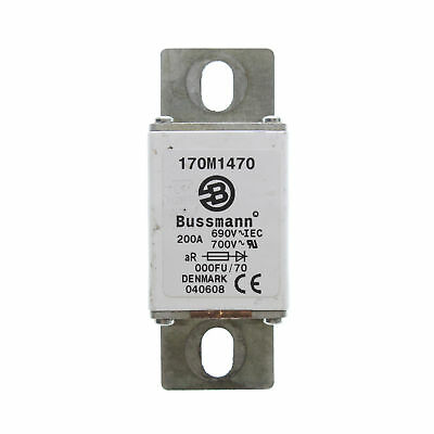 Bussman 170M1470 Square Body High Speed Fuse, 690V/700-Volt, 200-Amp