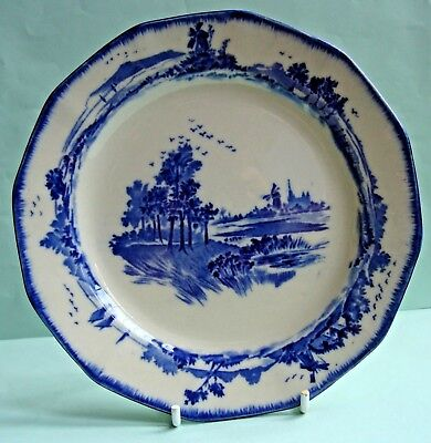 "Vintage / antique 1930's Royal Doulton ""Norfolk"", blue & white 6.5"" side plate"