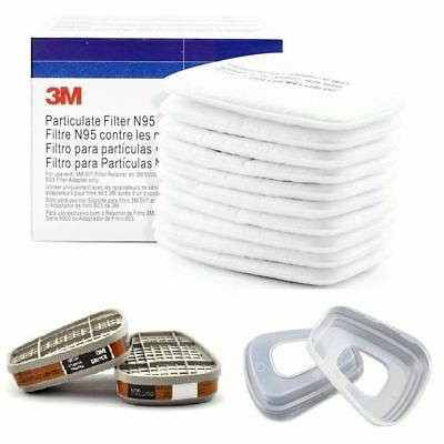 Premium Cotton Filter/Cartridge Mask Respirator Replace Fitting for 3M 6200 7502
