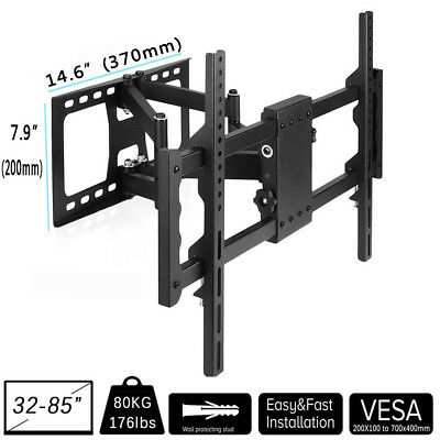 "LED LCD Plasma TV Wall Mount Swivel Bracket 32""42 50 57 60 65 75 80"" Load 70KG"