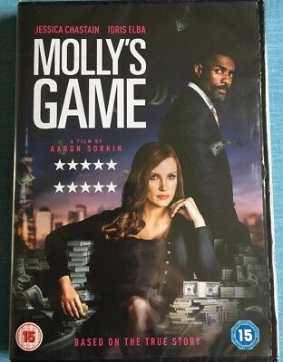 Mollys Game [Dvd] Brand New And Sealed Free Delivery