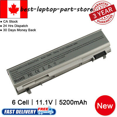 6 Cell Battery For Dell Latitude E6400 E6410 E6500 E6510 PT434 Laptop