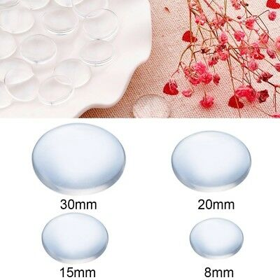 Clear Crystal Round Flat Back Glass Cabochon Scrapbooking Jewel Accessories DIY
