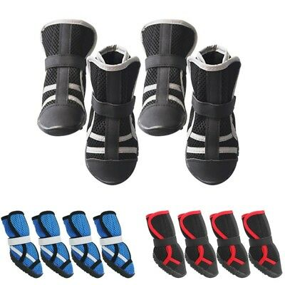 US XS-L Breathable Pet Dog Summer Shoe Puppy Mesh Boots Anti-Slip Paw Protector