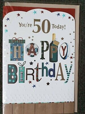 YOU'RE 50 TODAY HAPPY BIRTHDAY  - 50th BIRTHDAY CARD