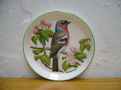 Crown Staffordshire Pin Tray With A Finch On An Apple Tree Branch In Blossom