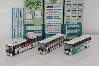 Tomix Bus Collection Brown 1/150 N scale Japan Scale Plastic Model 3x Lot N2