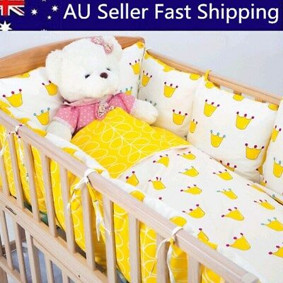 2/4/6Pcs Pillow Baby Infant Cot Crib Bumper Safety Protector Nursery Bedding Set