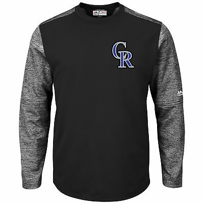 MLB Colorado Rockies Majestic Baseball Langarm Fleece Rundhals Sweatshirt Herren